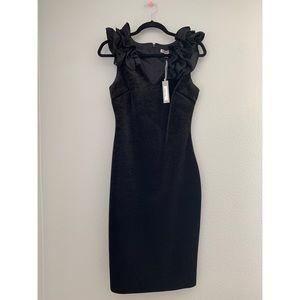 NWT CHELSEA28  Ruffle Velvet Sheath Dress